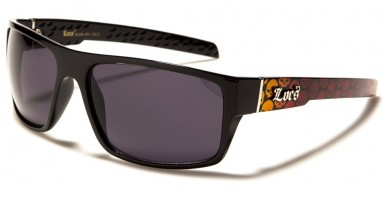 Locs Skull Print Men's Sunglasses in Bulk LOC91106-SKL