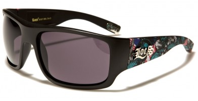 Locs Skull Print Men's Wholesale Sunglasses LOC91107-SKL