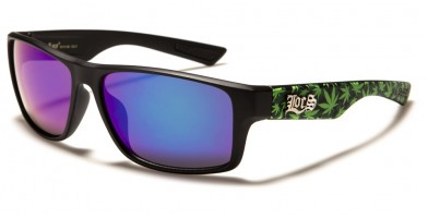 Locs Marijuana Leaf Print Wholesale Sunglasses LOC91111-MJ