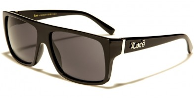 Locs Classic Men's Bulk Wholesale Sunglasses LOC91118-BK