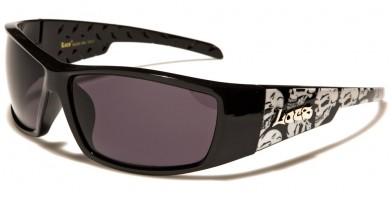 Locs Skull Print Men's Bulk Sunglasses LOC91123-SKL