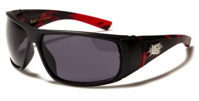 Locs Flame Print Men's Bulk Sunglasses LOC91124-FLAME
