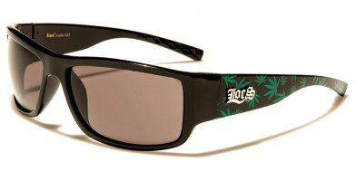 Locs Marijuana Print Sunglasses Wholesale LOC91125-MJ