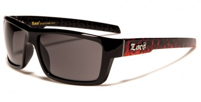 Locs Rectangle Men's Sunglasses LOC91132-FLAME