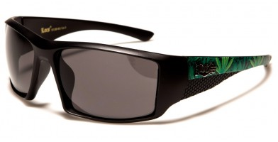 Locs Marijuana Leaf Print Sunglasses LOC91138-MJ