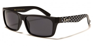 Locs Skull Print Men's Wholesale Sunglasses LOC91146-SKL