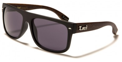 Locs Wood Grain Print Sunglasses in Bulk LOC91147-WOOD