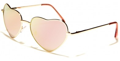 Heart Shaped Fashion Women's Bulk Sunglasses M10054-HEART-CM