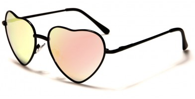Heart Shaped Women's Bulk Sunglasses M10054-HEART-PINK-CM