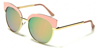 Cat Eye Pink Lens Women's Sunglasses Wholesale M10199-PINK-CM