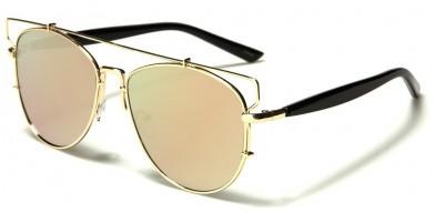 Aviator Pink Lens Women's Bulk Sunglasses M10277-PINK