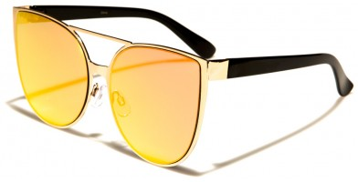 Cat Eye Pink Flat Lens Sunglasses Wholesale M10303-FT-PINK