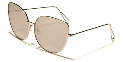 Cat Eye Flat Lens Women's Sunglasses Wholesale M10318-FT-CM