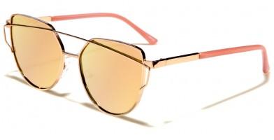 Cat Eye Pink Lens Women's Bulk Sunglasses M10337-FT-PINK