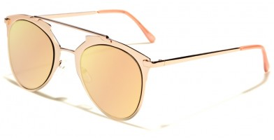 Aviator Pink Lens Women's Wholesale Sunglasses M10339-FT-PINK