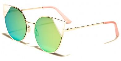 Cat Eye Flat Lens Women's Wholesale Sunglasses M10351