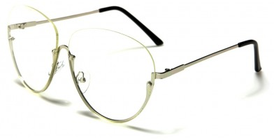 Rimless Oversized Unisex Glasses Bulk M10360-CLR