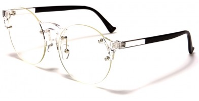Rimless Round Unisex Wholesale Glasses M10363-CLR