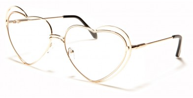 Heart Shaped Clear Lens Bulk Sunglasses M10623-HEART-CLR