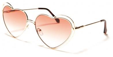 Heart Shaped Oval Women's Sunglasses Bulk M10623-HEART-CM