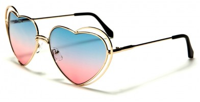 Heart Shaped Oceanic Lens Sunglasses Wholesale M10623-HEART-OC