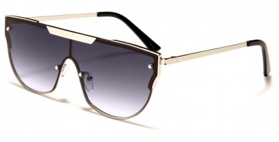 Flat Top Shield Women's Sunglasses Wholesale M10737