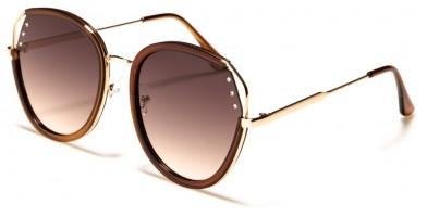 Round Rhinestone Women's Wholesale Sunglasses M10738
