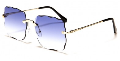 Diamond Cut Rimless Women's Bulk Sunglasses M10743