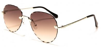 Aviator Diamond Cut Women's Sunglasses in Bulk M10744