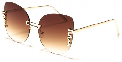 Cat Eye Rimless Women's Sunglasses Wholesale M10745