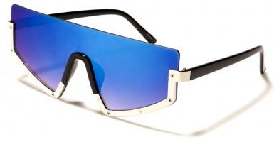 Flat Top Shield Oversized Wholesale Sunglasses M10754