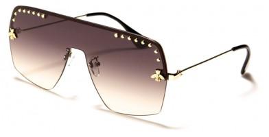 Shield Rimless Women's Sunglasses in Bulk M10803