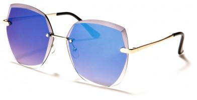 Butterfly Rimless Women's Sunglasses Wholesale M10804