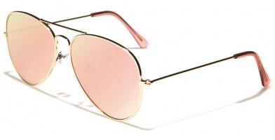 Aviator Pink Flat Lens Sunglasses In Bulk M6330-FT-PINK