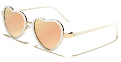 Heart Shaped Women's Sunglasses Wholesale P30248-FT-PINK-H