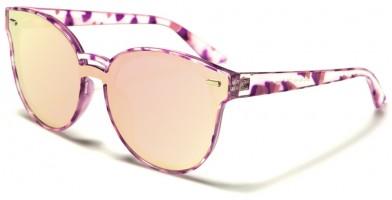Cat Eye Flat Lens Women's Sunglasses Wholesale P30273-FT-CM