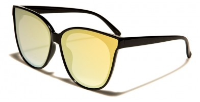 Cat Eye Flat Lens Women's Wholesale Sunglasses P6237-FT