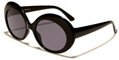 Retro Round Women's Wholesale Sunglasses P6279-BLACK