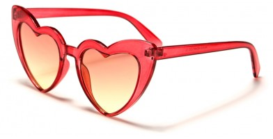 Heart Shaped Color Lens Sunglasses in Bulk P6353-HEART-CO