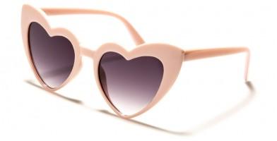 Heart Shaped Fashion Sunglasses in Bulk P6353-HEART-SD