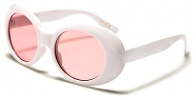 Round Color Lens Wholesale Sunglasses P6368-WHITE-CO