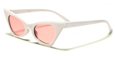 Cat Eye Color Lens Women's Wholesale Sunglasses P6404-CO