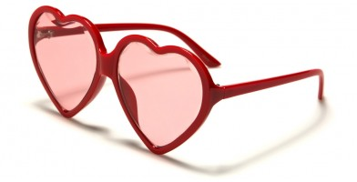 Oval Heart Shaped Women's Sunglasses Bulk P6457-HEART