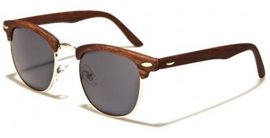 Wood Print Classic Unisex Sunglasses Bulk P8737-WD-SD