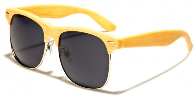 Wood Print Classic Unisex Sunglasses in Bulk P9133-WD-SD