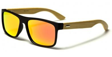 Rectangle Bamboo Polarized Sunglasses Bulk PL-2017-RV