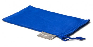Blue Fashion Microfiber Pouches Wholesale POUCH-A15BLU