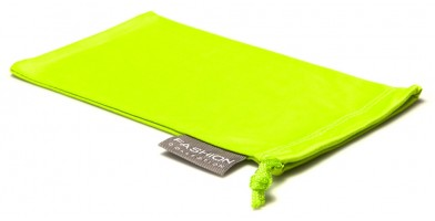 Green Fashion Microfiber Pouches Wholesale POUCH-A15GRN