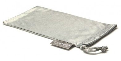 Gray Fashion Microfiber Pouches Wholesale POUCH-A15GRY