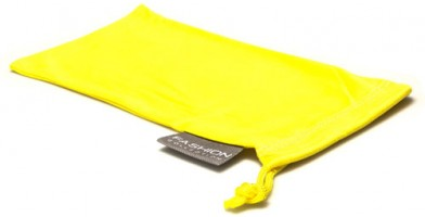 Yellow Fashion Microfiber Pouches Wholesale POUCH-A15YLW
